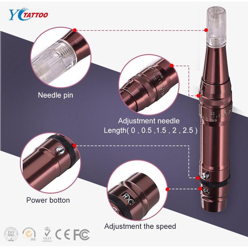 China Micro Permanent Makeup Machine Needling Drema Pen , Fractional ...