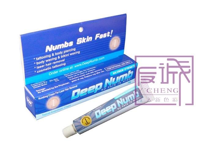 blue permanent makeup pain relief deep numb tattoo