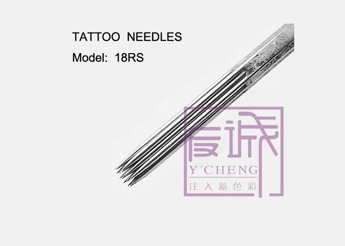 304l stainless steel 3rs pre made sterile on bar round for Shading tattoo needles