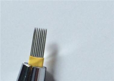 Permanent Makeup Microblading Eyebrow Tattoo Needles 15M Disposable Less Vibration