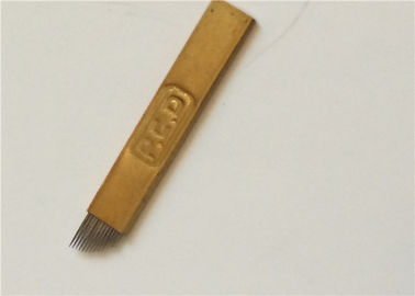 Golden PCD Tattoo Microblading Needles 0.5mm Thick Permanent Makeup Equipment