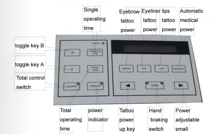 Permanent Makeup Tattoo Machines With LCD Power Supply